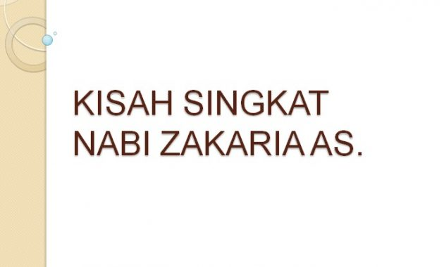 Kisah Nabi Zakaria AS. | Kisah Singkat 25 Nabi dan Rasul