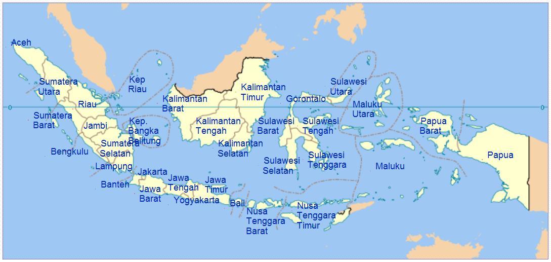 34 Daftar Provinsi di Indonesia Beserta Nama Ibukotanya