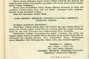 Sejarah Piagam Jakarta dan Perubahan Urutan Isi Pancasila